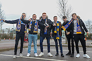 football fans, football supporters prior the EFL Sky Bet League 1 match between Milton Keynes Dons and AFC Wimbledon at Stadium MK, Milton Keynes, England on 10 December 2016. Photo by Stuart Butcher.