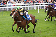 LADIES FIRST (13) ridden by Scott McCullogh, trained by Mick Easterby and owned and bred by Mr Reg Bond winning The Eventmasters.co.uk Apprentice Handicap Stakes over 7f (£17,000)  during the Newby and the Press Family Raceday at York Racecourse, York, United Kingdom on 9 September 2018. Picture by Mick Atkins.