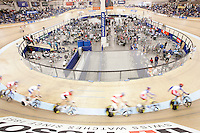 21 January 2007: Sports facility overview.   Indoor velodrome track at the UCI Track Cycling World Cup Classics @ the Home Depot Center, Carson CA.