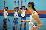 Bright Cloud plays basketball with his friends at least twice a week in the Kahnawake Youth Centre's brightly painted gymnasium.