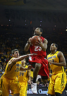 January 27, 2010: Ohio State guard/forward David Lighty (23) puts up a shot as Iowa guard Eric May (25) and Iowa forward Jarryd Cole (50) try to defend during the first half of their game at Carver-Hawkeye Arena in Iowa City, Iowa on January 27, 2010. Ohio State defeated Iowa 65-57.