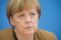 18 JUL 2014, BERLIN/GERMANY:<br /> Angela Merkel, CDU, Bundeskanzlerin, waehrend der sog. Sommer-Pressekonferenz der Bundeskanzlerin zu aktuellen Themen der Innen- und Außenpolitik, Bundespressekonferenz<br /> IMAGE: 20140718-01-022