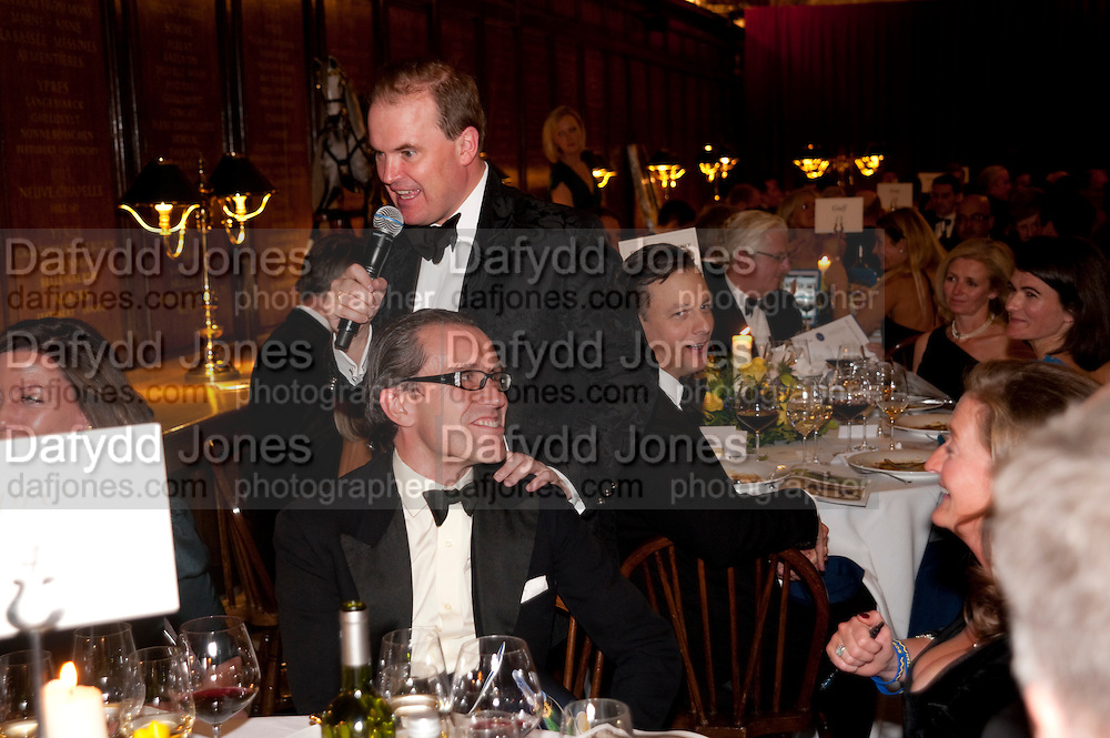 WILL RAMSAY; LORD HARRY DALMENY, Charity Dinner in aid of Caring for Courage The Royal Scots Dragoon Guards Afganistan Welfare Appeal. In the presence of the Duke of Kent. The Royal Hospital, Chaelsea. London. 20 October 2011. <br /> <br />  , -DO NOT ARCHIVE-&copy; Copyright Photograph by Dafydd Jones. 248 Clapham Rd. London SW9 0PZ. Tel 0207 820 0771. www.dafjones.com.