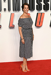 Andrea Mclean arriving for the UK premiere of Mission:Impossible Fallout, at the BFI IMAX, Waterloo, London. Photo credit should read: Doug Peters/EMPICS