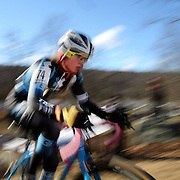 Ellen Noble in action during the Cyclo-Cross, Supercross Cup 2013 UCI Weekend at the Anthony Wayne Recreation Area, Stony Point, New York. USA. 24th November 2013. Photo Tim Clayton