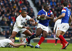 February 10, 2019 - London, England, United Kingdom - L-R Kyle Sinckler of England and Demba Bamba of France..during the Guiness 6 Nations Rugby match between England and France at Twickenham  Stadium on February 10th,  in Twickenham, London, England. (Credit Image: © Action Foto Sport/NurPhoto via ZUMA Press)