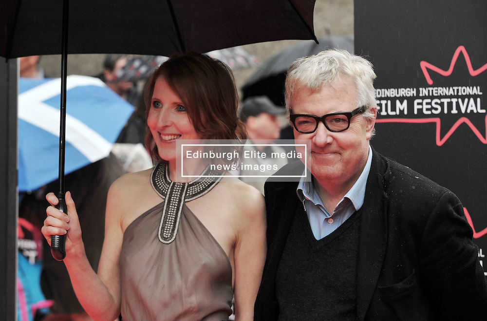 "Edinburgh International Film Festival, Sunday 26th June 2016<br /> <br /> Stars turn up on the closing night gala red carpet for the World Premiere of ""Whisky Galore!""  at the Edinburgh International Film Festival 2016<br /> <br /> Fenella Woolgar who plays Dolly in the film with John Sessions<br /> <br /> (c) Alex Todd 