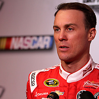 Kevin Harvick speaks with the media during the NASCAR Media Day event at Daytona International Speedway on Thursday, February 14, 2013 in Daytona Beach, Florida.  (AP Photo/Alex Menendez)
