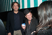 GIORGIO LOCATELLI; PAUL SIMONON, Charles Finch and  Jay Jopling host dinner in celebration of Frieze Art Fair at the Birley Group's Harry's Bar. London. 10 October 2012.