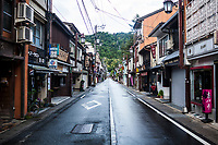 The small streets of Kinosaki in Kansai, Japan.