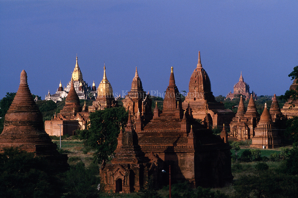 Early morning light over the pagodas of Bagan.