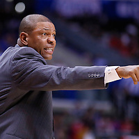 23 October 2013: Los Angeles Clippers head coach Doc Rivers is seen during the Los Angeles Clippers 103-99 victory over the Utah Jazz at the Staples Center, Los Angeles, California, USA.