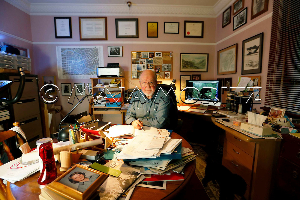 Philip Temple in his writing realm at home in Dunedin, New Zealand