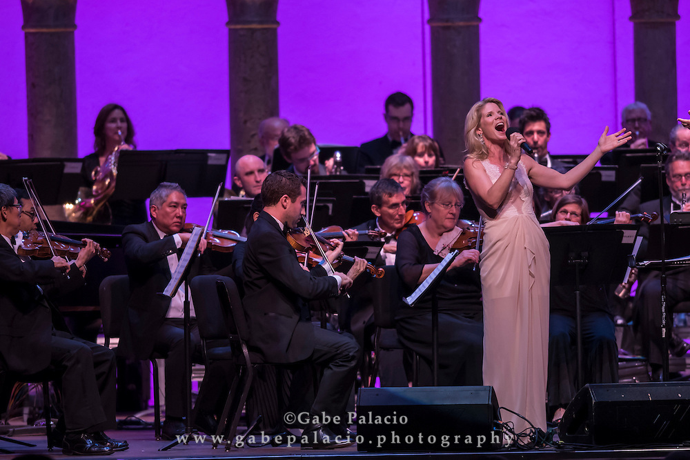 Opening Night Concert featuring Kelli O&rsquo;Hara<br /> with Orchestra of St. Luke's and Rob Fisher, conductor in the Venetian Theater at Caramoor in Katonah New York on June 18, 2016. <br /> (photo by Gabe Palacio)