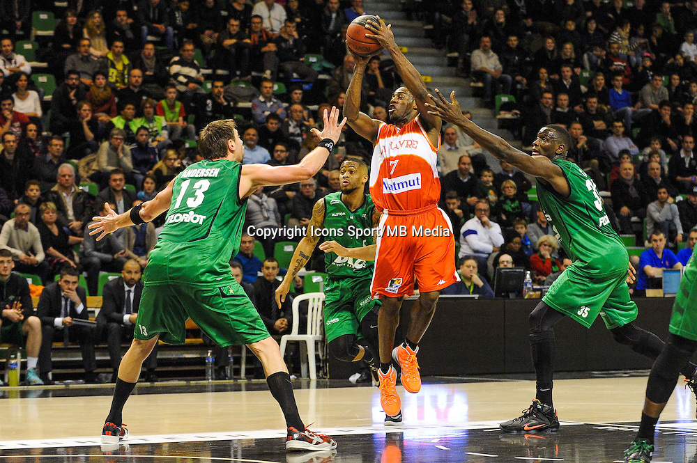Gedeon Pitard  - 29.12.2014 - Lyon Villeurbanne / Le Havre - 16e journee Pro A<br />Photo : Jean Paul Thomas / Icon Sport