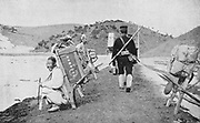 Russo-Japanese War, 1904-1905:  Korean coolies acting as porters for Japanese soldiers