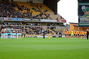 Minute silence for remembrance Sunday during the Sky Bet Championship match between Wolverhampton Wanderers and Burnley at Molineux, Wolverhampton, England on 7 November 2015. Photo by Alan Franklin.