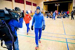 February 9, 2018 - Pyeongchang, SOUTH KOREA - 180209 Simen Hegstad KrŸger and Johannes HÂ¿sflot Kl¾bo of Norway after a press event with the Norwegian men's cross-country team during the 2018 Winter Olympics on February 8, 2018 in Pyeongchang..Photo: Jon Olav Nesvold / BILDBYRN / kod JE / 160147 (Credit Image: © Jon Olav Nesvold/Bildbyran via ZUMA Press)