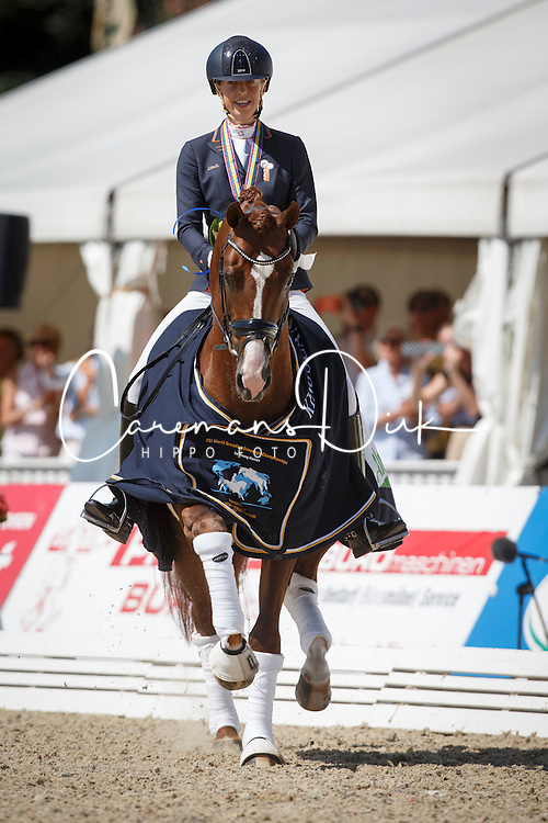 Brouwer Kirsten, (NED), Eye Catcher 6<br /> Final 6 years old horses<br /> World Championship Young Dressage Horses - Verden 2015<br /> © Hippo Foto - Dirk Caremans<br /> 09/08/15