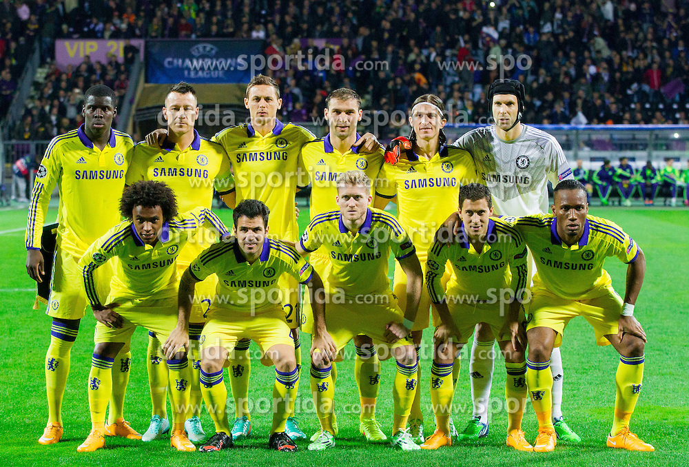Team photo of Chelsea during football match between NK Maribor, SLO  and Chelsea FC, ENG in Group G of Group Stage of UEFA Champions League 2014/15, on November 5, 2014 in Stadium Ljudski vrt, Maribor, Slovenia. Photo by Vid Ponikvar / Sportida
