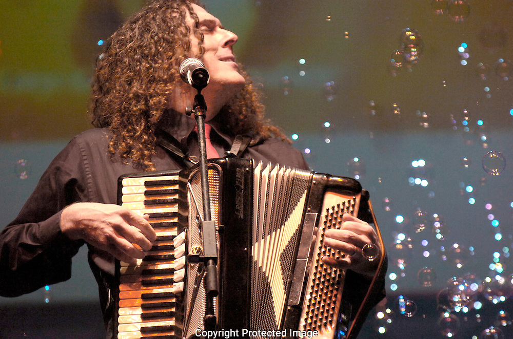 Jodi Miller Lubbock Avalanche-Journal.Weird Al Yankovic basks in bubbles during his rain-delayed performance at the Lone Star Ampitheatre Saturday night.