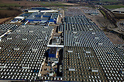 Nederland, Limburg, Gemeente Sittard-Geleen, 07-03-2010; Born, NedCar productie van auto's, het complex begonnen als fabriek voor DAF maakt tegenwoordig auto's voor Mitsubishi. .NedCar, began as a factory for DAF, nowadays production of cars for Mitsubishi..luchtfoto (toeslag), aerial photo (additional fee required).foto/photo Siebe Swart