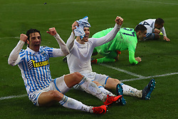 "Foto Filippo Rubin<br /> 03/03/2018 Ferrara (Italia)<br /> Sport Calcio<br /> Spal - Bologna - Campionato di calcio Serie A 2017/2018 - Stadio ""Paolo Mazza""<br /> Nella foto: SERGIO FLOCCARI (SPAL) E JASMIN KURTIC (SPAL)<br /> <br /> Photo by Filippo Rubin<br /> March 03, 2018 Ferrara (Italy)<br /> Sport Soccer<br /> Spal vs Bologna - Italian Football Championship League A 2017/2018 - ""Paolo Mazza"" Stadium <br /> In the pic: SERGIO FLOCCARI (SPAL) AND JASMIN KURTIC (SPAL)"