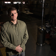Corey Heim, Chief Operating Officer of DryCase, poses for a portrait at the company's warehouse in Wilmington, N.C. Wednesday January 22, 2014. (Jason A. Frizzelle)