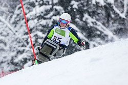 Slivnik Jernej of Slovenia during Slalom race at 2019 World Para Alpine Skiing Championship, on January 23, 2019 in Kranjska Gora, Slovenia. Photo by Matic Ritonja / Sportida