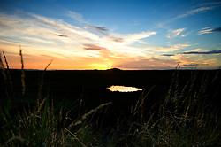 Sunset at Burnham Overy Staithe, North Norfolk Coast, England, United Kingdom.