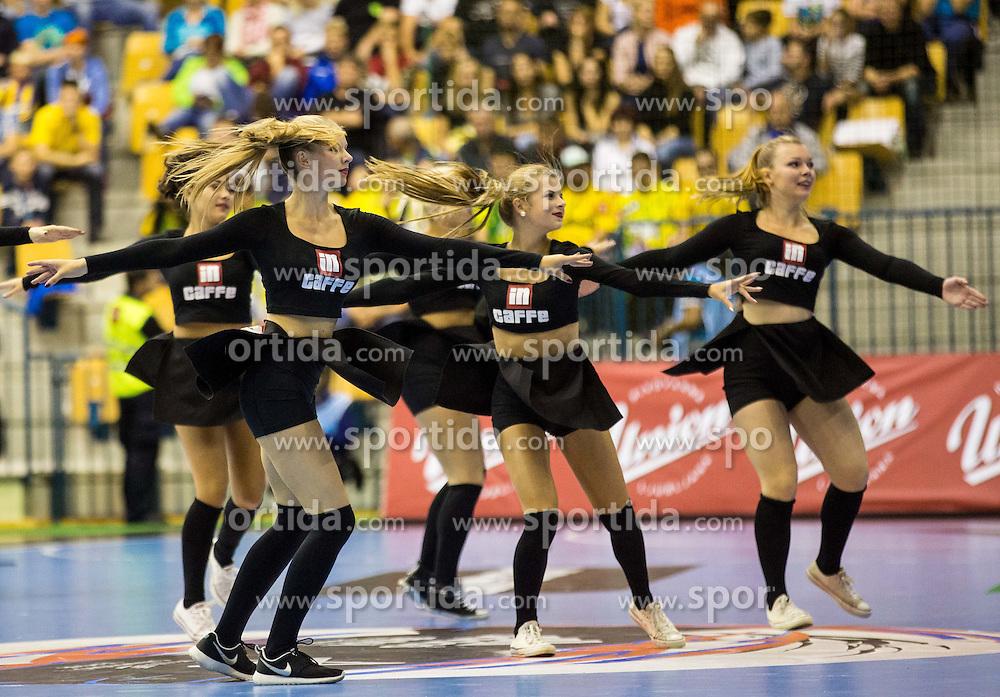 Dance group Plesna sola Urska perform during handball match between RK Celje Pivovarna Lasko and RK Zagreb in Round #2 of Group Phase of EHF Champions League 2015/16, on September 26, 2015 in Arena Zlatorog, Celje, Slovenia. Photo by Vid Ponikvar / Sportida