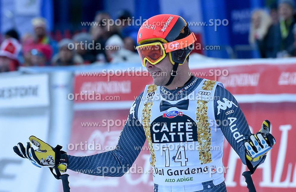 16.12.2016, Saslong, St. Christina, ITA, FIS Weltcup Ski Alpin, Groeden, Abfahrt, Herren, im Bild Christof Innerhofer (ITA) // Christof Innerhofer of Italy reacts after his run of men's downhill of FIS Ski Alpine World Cup at the Saslong in St. Christina, Italy on 2016/12/16. EXPA Pictures © 2016, PhotoCredit: EXPA/ Erich Spiess