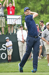 May 5, 2019 - Charlotte, North Carolina, United States of America - Justin Rose tees off on the first hole during the final round of the 2019 Wells Fargo Championship at Quail Hollow Club on May 05, 2019 in Charlotte, North Carolina. (Credit Image: © Spencer Lee/ZUMA Wire)
