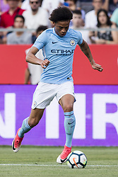 August 15, 2017 - Girona, Spain - 19 Farid Boulaya from Argelia of Girona FC  during the Costa Brava Trophy match between Girona FC and Manchester City at Estadi de Montilivi on August 15, 2017 in Girona, Spain. (Credit Image: © Xavier Bonilla/NurPhoto via ZUMA Press)