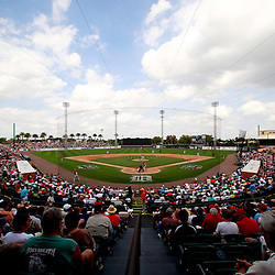 March 9, 2011; Lakeland, FL, USA; A general view during a spring training exhibition game between the Philadelphia Phillies and the Detroit Tigers at Joker Marchant Stadium.  Mandatory Credit: Derick E. Hingle-US PRESSWIRE