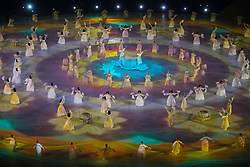 March 9, 2018 - Pyeongchang, South Korea - Artists perform at Opening Ceremony for the 2018 Pyeongchang Winter Paralympic Games March 9, 2018. Photo by Mark Reis (Credit Image: © Mark Reis via ZUMA Wire)