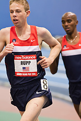 Galen Rupp, Mo Farah work out on track