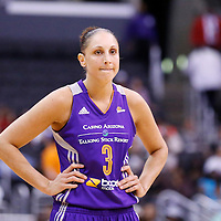 24 August 2014: Phoenix Mercury guard Diana Taurasi (3) rests during the Phoenix Mercury 93-68 victory over the Los Angeles Sparks, in a Conference Semi-Finals at the Staples Center, Los Angeles, California, USA.