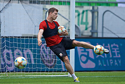 BUDAPEST, HUNGARY - Monday, June 10, 2019: Wales' James Lawrence during a training session ahead of the UEFA Euro 2020 Qualifying Group E match between Hungary and Wales at the Ferencváros Stadion. (Pic by David Rawcliffe/Propaganda)