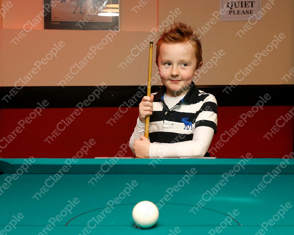 01/02/2014<br /> Aidan O'Loughlin from Lehinch pictured at Ennis Snooker Club in the Market, Ennis.<br /> Picture: Don Moloney / Press 22
