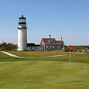 Cape Cod Light also called Highland Light sits amid a golf course. Cape Cod, Massachusetts, USA