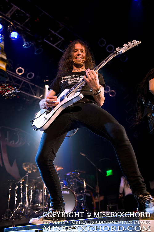 Dragonforce performing on the openng night of their Ultra Beatdown North South American Tour at The House of Blues n anaheim, California USA