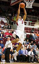 November 6, 2009; Stanford, CA, USA;  Stanford Cardinal guard/forward Landry Fields (2) shoots against the Sonoma State Seawolves during the first half of an exhibition game at Maples Pavilion.