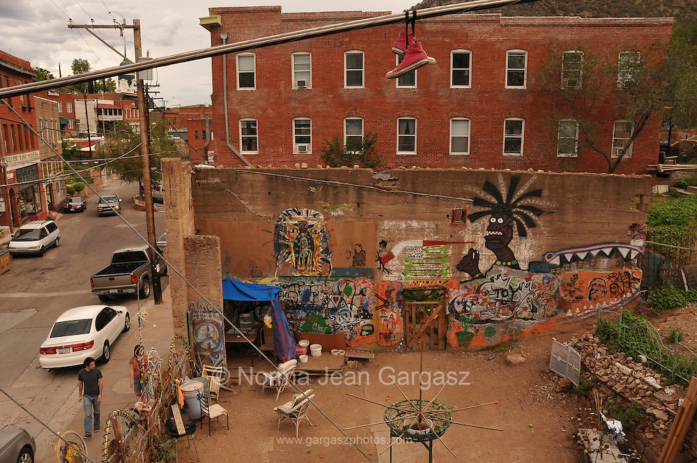 The dog park in Bisbee, Arizona, USA.