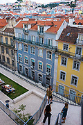 Rua Áurea, Lisbon, seen from the Carmo Convent.