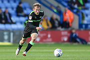 Forest Green Rovers George Williams(11) on the ball during the EFL Sky Bet League 2 match between Macclesfield Town and Forest Green Rovers at Moss Rose, Macclesfield, United Kingdom on 29 September 2018.