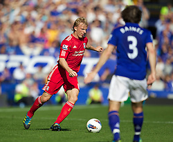 LIVERPOOL, ENGLAND - Saturday, October 1, 2011: Liverpool's Dirk Kuyt in action against Everton during the Premiership match at Goodison Park. (Pic by Vegard Grott/Propaganda)