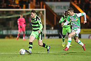 Forest Green Rovers Dayle Grubb(8) on the ball during the EFL Trophy 3rd round match between Yeovil Town and Forest Green Rovers at Huish Park, Yeovil, England on 9 January 2018. Photo by Shane Healey.