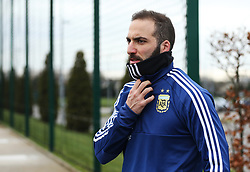 Argentina's Gonzalo Higuain - Mandatory by-line: Matt McNulty/JMP - 21/03/2018 - FOOTBALL - Argentina - Training session ahead of international against Italy