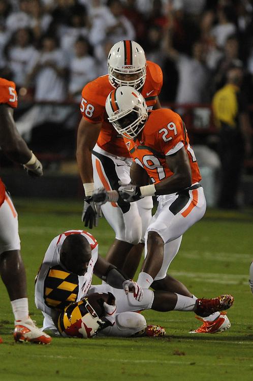 2011 Miami Hurricanes Football @ Maryland<br /> <br /> Jo Jo Nicolas